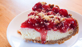 Cherries and cheesecake Royalty Free Stock Images