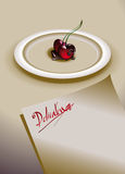 Cherries with chocolate Royalty Free Stock Photography
