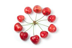 Cherries in circle shape Stock Images