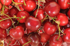 Cherries in close-up Royalty Free Stock Images