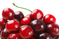 Cherries close-up on white Stock Images