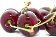 Cherries closeup Royalty Free Stock Photos