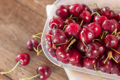 Cherries closeup from above Royalty Free Stock Image