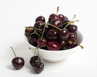 The cherries closeup isolated Stock Photo