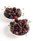 The cherries closeup isolated Stock Photos