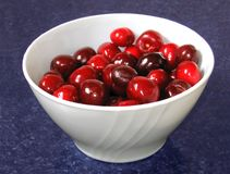 Cherries in a cup Stock Photography