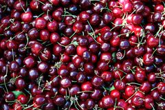 Cherries. Delicious seasonal summer fruits Royalty Free Stock Image