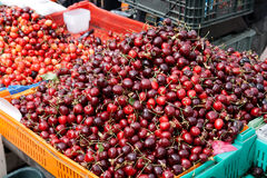 Cherries at a farmers market Stock Images