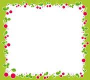 Cherries frame. Illustration of cherry frame-fruit on the green background Stock Images