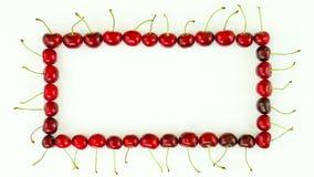 Cherries frame stock video footage