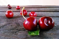 Cherries, Fruit, Red, Sweet, Cherry Stock Images