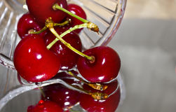 Cherries in glass Royalty Free Stock Photos