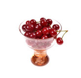 Cherries in a glass bowl Royalty Free Stock Photos
