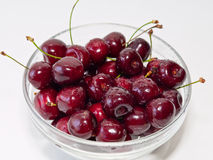Cherries in a glass pot Stock Photos