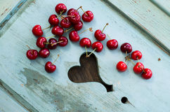 Cherries and heart Royalty Free Stock Photography