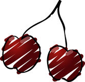Cherries illustration Stock Image