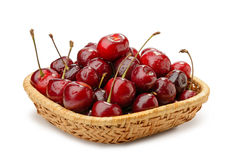 Free Cherries In A Basket Stock Photography - 41922512