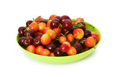 Cherries isolated Royalty Free Stock Images
