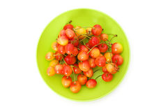 Cherries isolated Stock Image