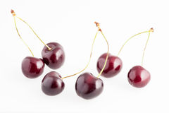 Cherries isolated Royalty Free Stock Photography