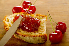 Cherries jam Royalty Free Stock Photos