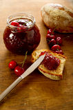 Cherries jam Stock Photography