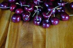 Cherries. On a kinchen top stock photo