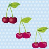 Cherries kit Stock Images