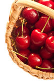 Cherries in little basket Royalty Free Stock Photos
