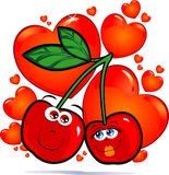 Cherries in love Stock Images