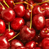 Cherries. Macro picture of fresh washed cherries Royalty Free Stock Photography