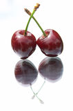 Cherries on the mirror Royalty Free Stock Image