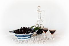 Cherries in an old fashion way - a still life Stock Image