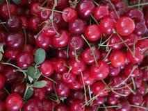 Cherries organic market Stock Photos