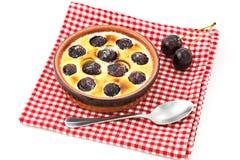 Cherries pancake. Cherry pancake in a tablecloth Royalty Free Stock Photos