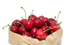 Cherries in a paper bag Stock Photos