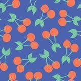 Cherries pattern. Vector seamless background stock illustration