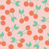Cherry pattern. Vector seamless background royalty free illustration
