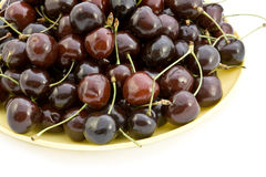 Cherries on a plate. Stock Photo