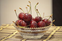 Cherries in a plate Stock Photo