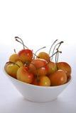 Cherries Rainier. Bowl of fresh Rainier Cherries Royalty Free Stock Images