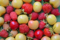 Cherries,  raspberries, strawberries Royalty Free Stock Photography
