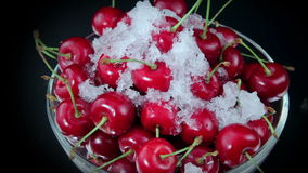 Cherries, Red Cherry on The Plate stock video