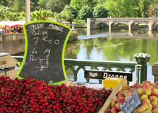 Cherries by River Dronne Dordogne France Royalty Free Stock Photo