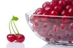 Cherries in a salad bowl 2 Stock Image