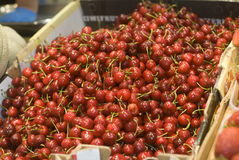 Cherries for sale Royalty Free Stock Photo