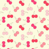 Cherries seamless background. Stock Images