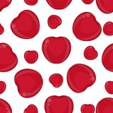 Cherries seamless pattern. Seamless pattern with cherries isolated on white background. Vector illustration of berries Stock Photos