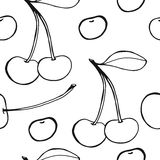Cherries - seamless vector pattern Stock Photography