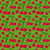 Cherries - seamless vector pattern Royalty Free Stock Images